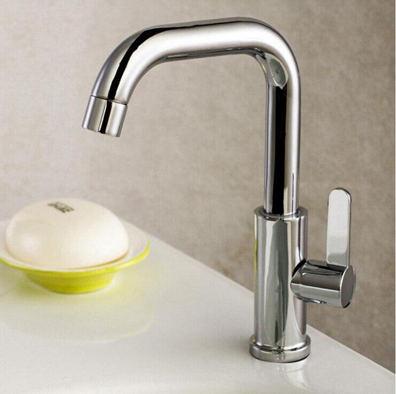 US $28.61 |Brushed nickel kitchen faucet modern kitchen mixer tap stainless  steel 360 Degree Sing Cold Tap Kitche mix torneira cozinha#25-in Kitchen ...