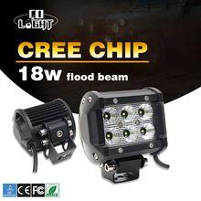 Со светом 2 шт. светодиодный свет бар 18 Вт 6500 К LED чипы наводнение пятно днем Бег свет для 4×4 внедорожный 12 В 24 В автомобиля