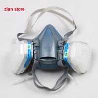 7502 Gas Mask Filters Silicone Half Mask