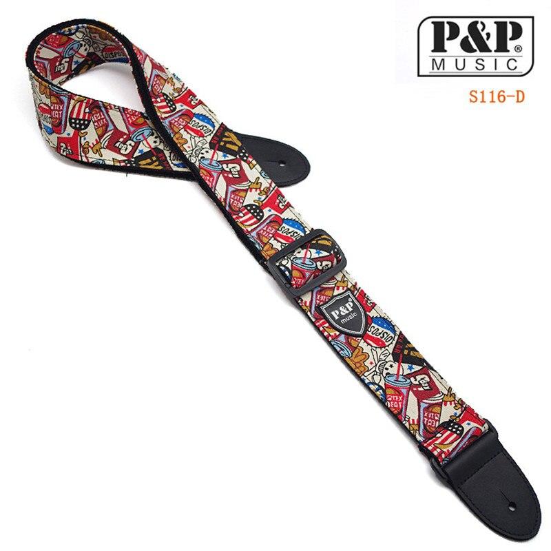 High quality electric guitar straps, design folk guitar strap, printing bass straps 4Colors S116 AD