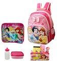 1 conjunto de 12.9 polegada Princesa Crianças sacos bonito da escola dos desenhos animados mochila para meninas da escola Feminina mochila escolar crianças mochila