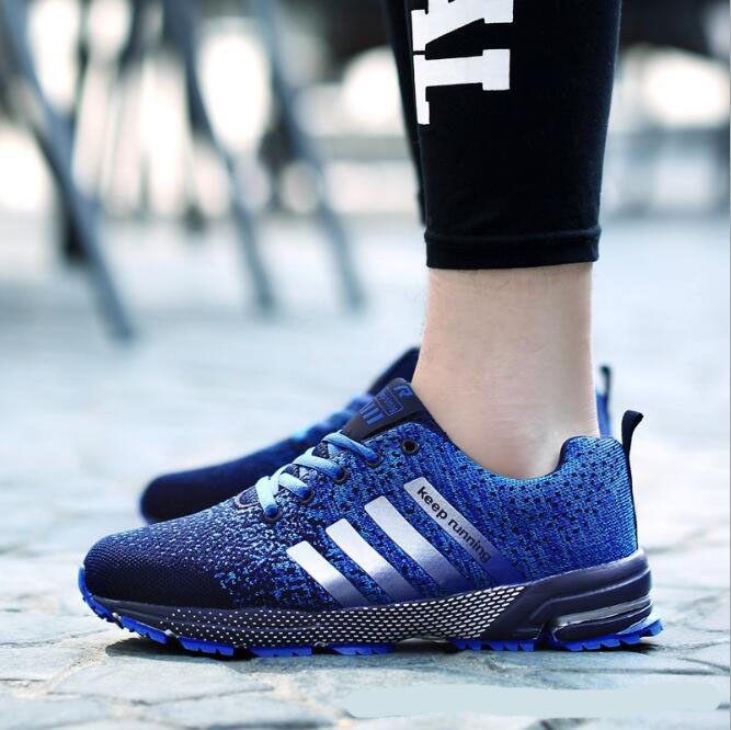Sports shoes men and women running breathable sports shoes couples sneakers marathon running shoes P03 ...
