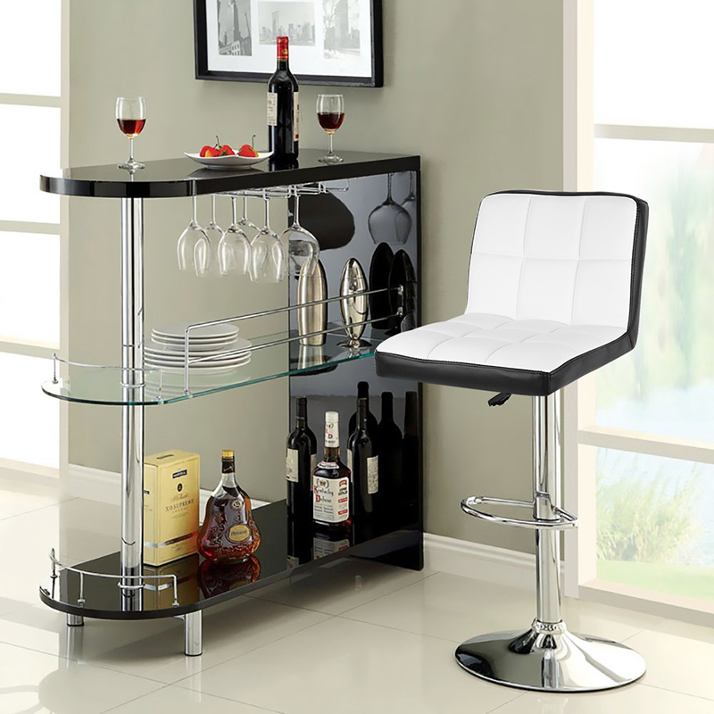 Big Discount 2pc/set PU Leather Swivel Bar Stool Adjustable Lift Bar Chairs Chaise De Bar Home Furniture For Kitchen Bar HWC