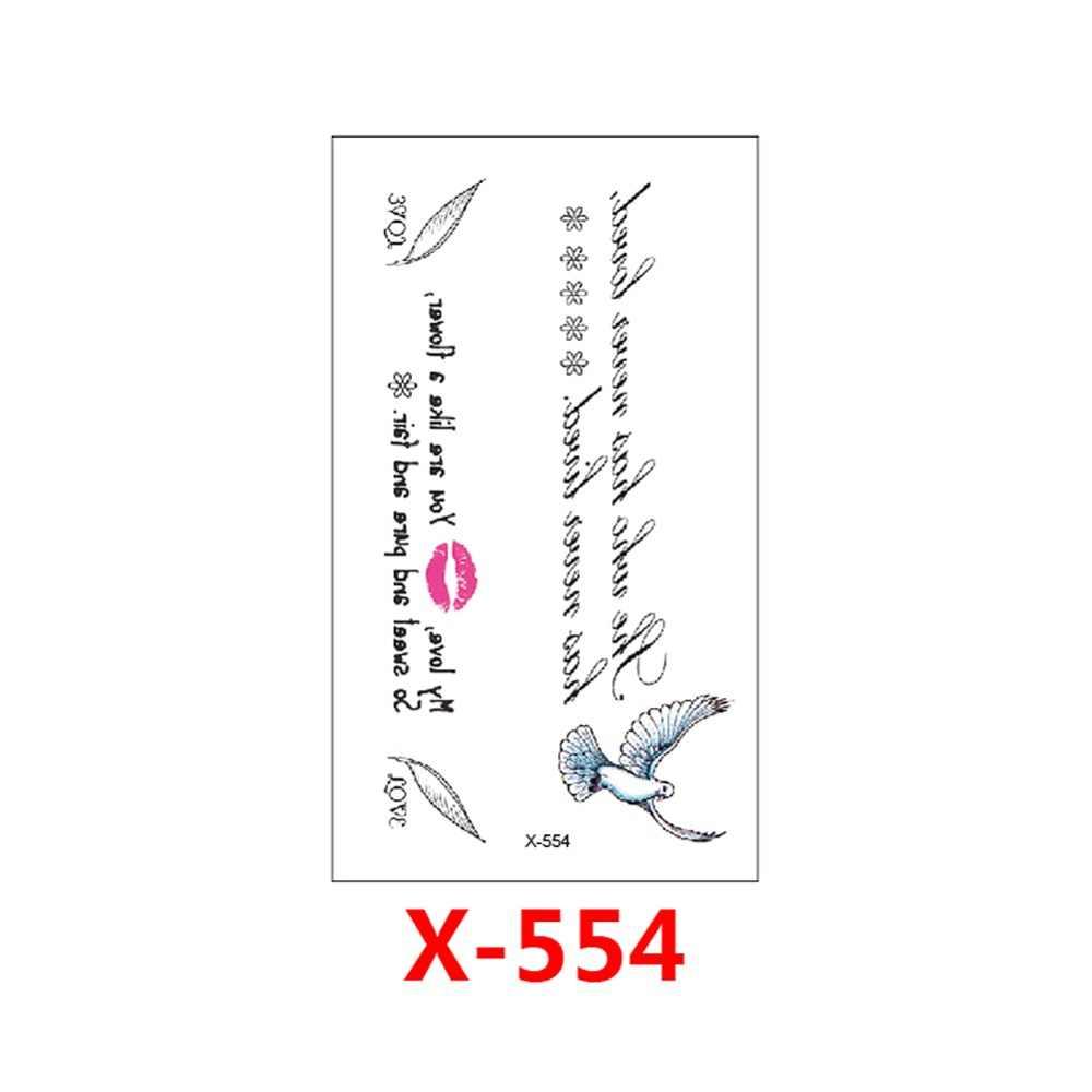 MB Classic Black Tatoo Cat Bird Fake Tattoo Tatuajes Hand Tatouage Body Waterproof Temporary Tattoo Sticker Small Taty