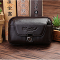 CHEER SOUL 100%Cow Leather Waist Packs Men Business Travel Fanny Packs Fashion Style Genuine Leather Belt Bag Male Waist Bag