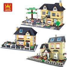816pcs Wange 34053 슈퍼 대형 빌라 빌딩 블록 Eductional 장난감 구조 벽돌 블록 하우스 선물과 호환 가능