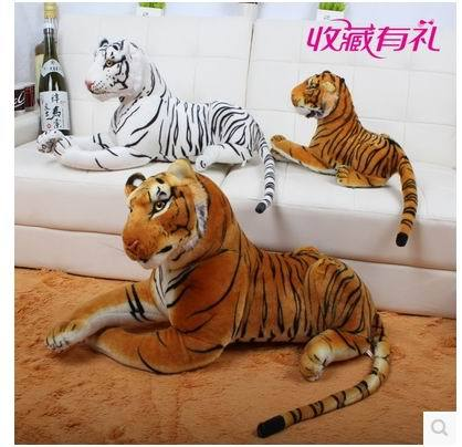 2015 New Fashion Artificial tiger Stuffed Plush Toy Dolls Simulation Tigers  Children's Day Gifts Quality Free shipping stuffed animal 110 cm plush simulation lying tiger toy emulation yellow tiger doll great gift free shipping w400