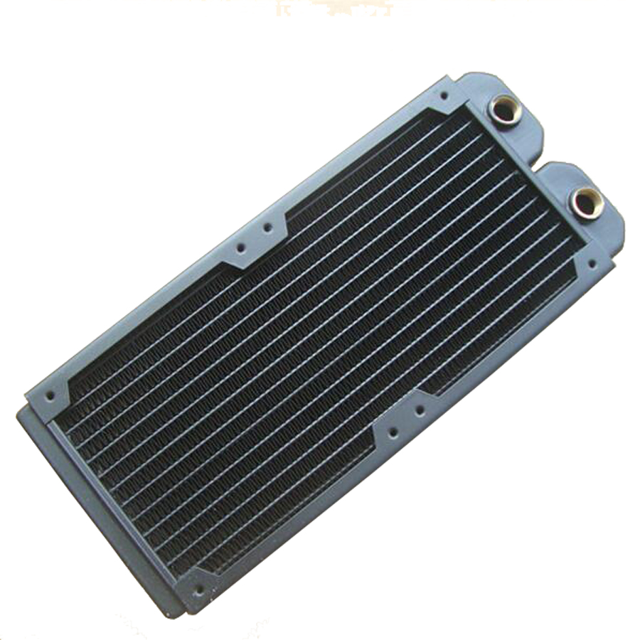 купить Seoul cooled 240 water-cooled copper double radiator exhaust heat exchanger cooled exhaust water cooling computer по цене 4520.47 рублей