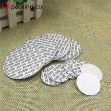 500 шт., бесплатная доставка, Уплотнительная наклейка для пластиковых стеклянных бутылок, самоклеящаяся пленка для предотвращения утечки косметического контейнера