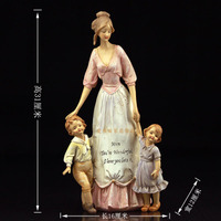 Children love their mother and children Mother and child european style retro arts and crafts decorative pieces sculptures room