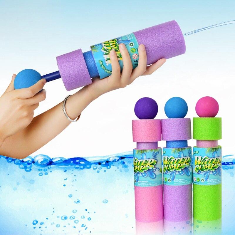 2018 New Round head Colourful EVA Water Pistol Blaster Shooter Sprayer Outdoor Fun Toys for Children Summer Pools Toys