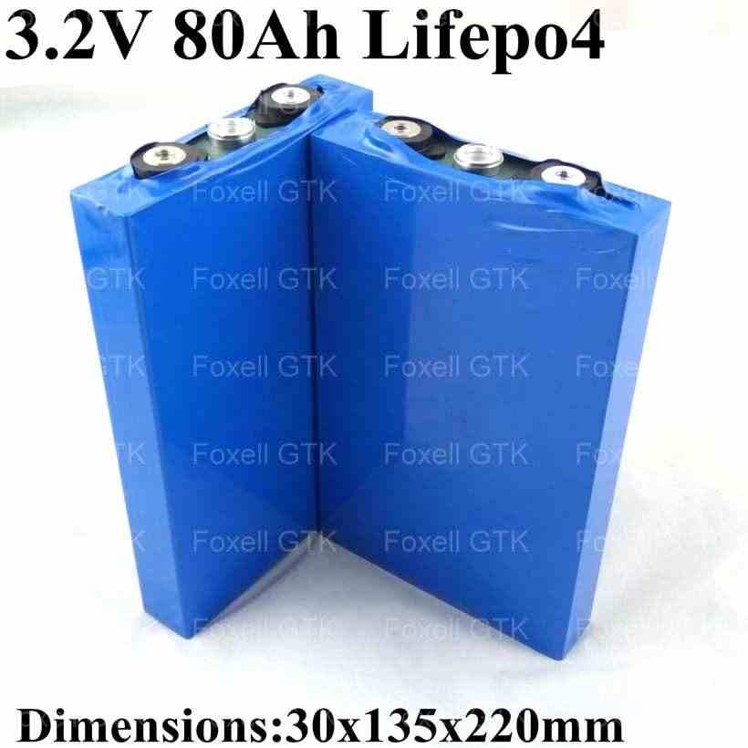 8pcs Fast Express ship GTK 80Ah lifepo4 battery cell 3 2v