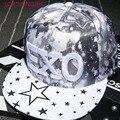 2016 nuevo verano verano adulto gorra de béisbol exo pentagram bordado hip hop cap snapback sombreros para hombres de las mujeres