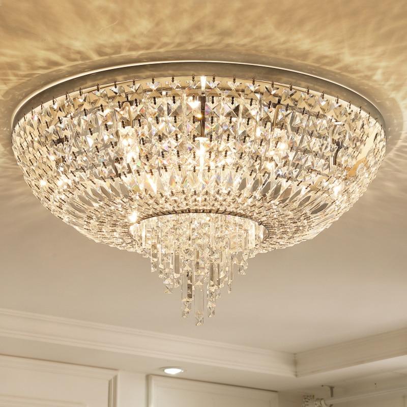 Cristal plafonnier lumière ronde éclairage intérieur moderne romantique de luxe chambre salon lampe décor à la maison design