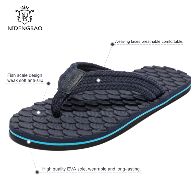 Summer Men Flip Flops Non-slip Beach Sandals Top EVA Casual Shoes Men Slippers Big Size 40-48 Slides Pantufa Zapatos De Hombre
