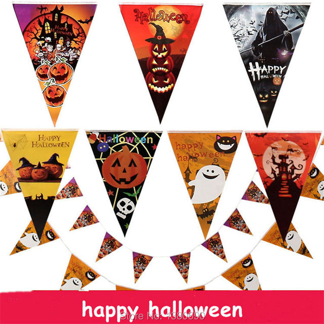 2 5m 10 flags halloween string flag pennants paper flag halloween party xmas decoration banner bunting