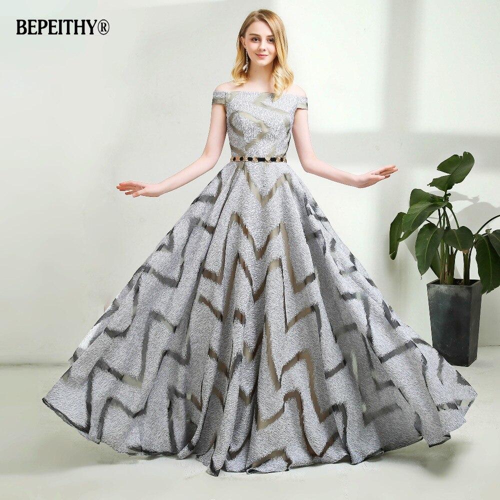 2019 Hot Sale Off The Shoulder Lace Long Evening Dress Floor Length Vintage Robe De Soiree
