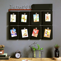 Vintage American Iron Blackboard Wall American Tea shop Message Board Wall Decoration Creative Bar Wall Decoration Pendant