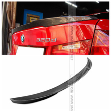 Top quality F30 M4 style V carbon fiber rear spoiler car trunk lip auto boot wing for B&W