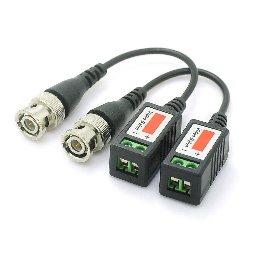 UTP Passif Vidéo Balun Cat5 BNC Mâle Câble à Paire Torsadée Transmetteur CCTV