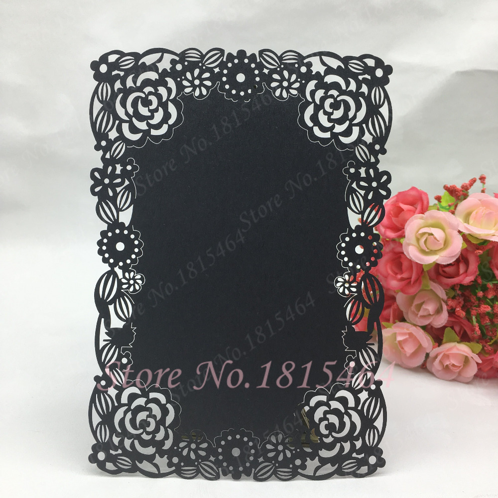 Us 12 99 30pcs New Diy Menu Cards Laser Cut Flower Design Handmade Banquet Menu Card Wedding Invitation Card Party Table Decoration In Cards