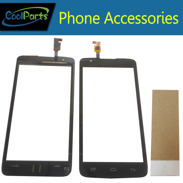 1PC/Lot High Quality For Micromax Q383 Touch Screen Digitizer Touch Panel Lens Glass With Tape Replacement Part Black Color