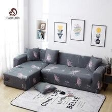 Parkshin Nordic Plants Slipcover antypoślizgowe elastyczne pokrowce na sofy poliester All inclusive rozciągliwy na sofę poduszka 1/2/3/4 seater