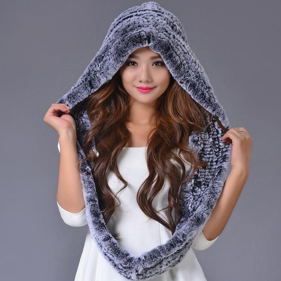 ФОТО 2016  Rex Rabbit Fur Women Cap Real Fur Genuine Caps New Adult  Warm Elegant Casual Beanies Hat