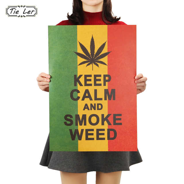 Tie Ler Home Decor Poster Jamaican Reggae Style To Keep Calm Wall