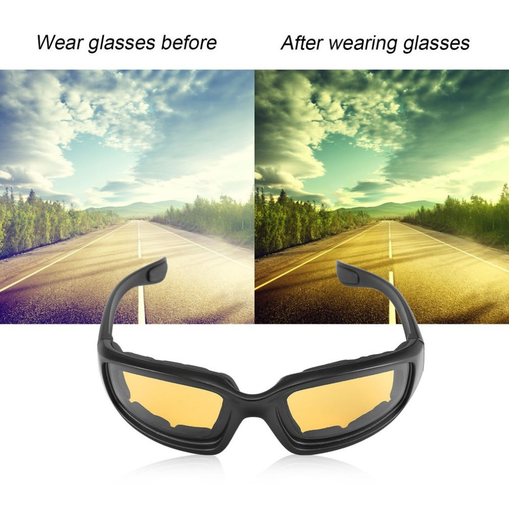 Motorcycle Bike Protective Glasses Windproof Dustproof Eye Glasses Cycling Goggles Eyeglasses Outdoor Sports Eyewear Glasses Hot