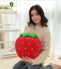 big new plush strawberry toy cute cartoon strawberry doll toy fruit gift about 40cm 0238