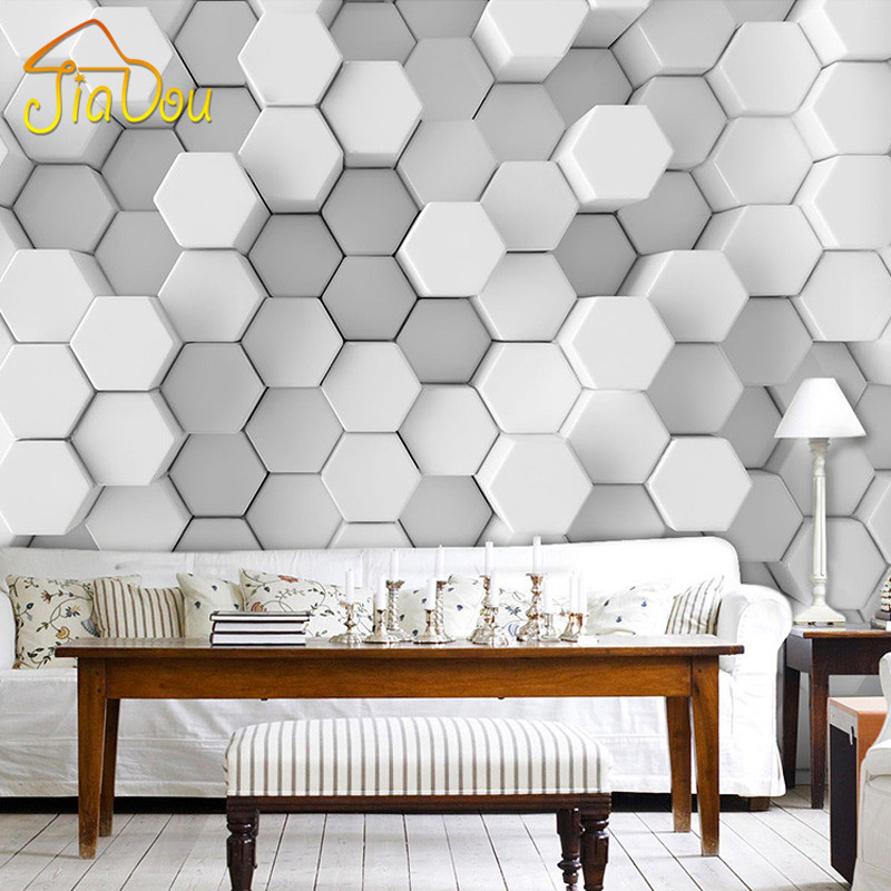 custom photo wall paper 3d stereoscopic geometric
