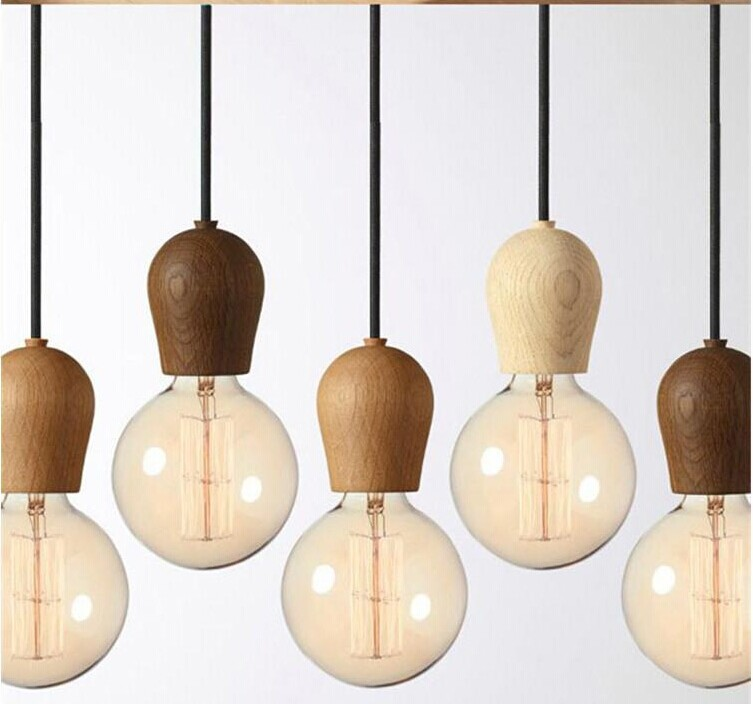 edison chandelier wood - Edison Chandelier
