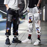 Streetwear Joggers hommes Hip Hop cheville longueur pantalon hommes printemps automne décontracté impression pantalons de survêtement hommes Harem pantalon