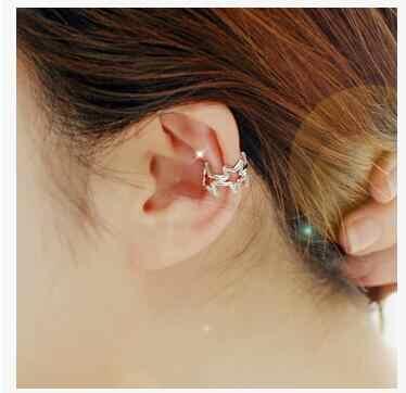 Ea966 2018 Venta caliente nueva moda hojas estrella sin agujero de oreja clip oreja hembra encanto joyería 1 piezas