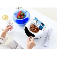 1PCS Creative Multifunctional Circular Plastic Double Deck Snacks Food Storage Box Dual Purpose Tabletop Grocerie Dry