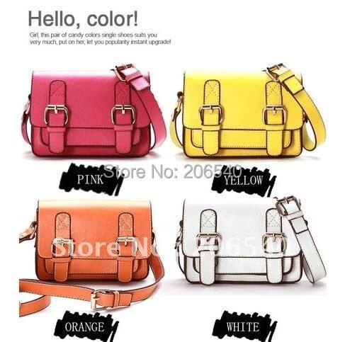 Free shipping 3 color  hot sale College Satchel Messenger Briefcase Mini Shoulder Bag