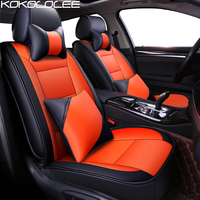 KOKOLOLEE Pu Leather Car Seat Cover For Toyota Volkswagen Fiat Hyundai Chery BYD Car Accessories Auto