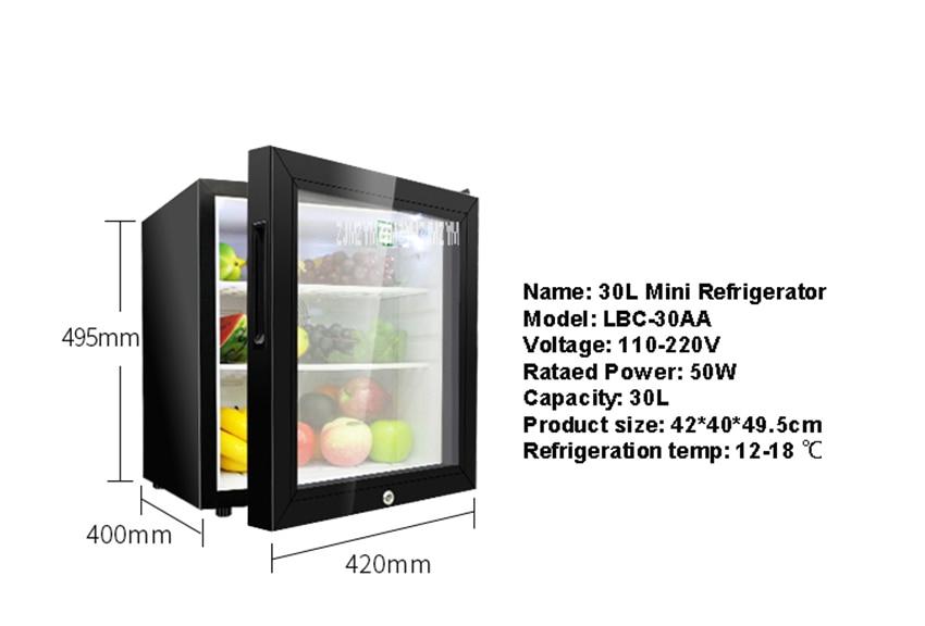 Minibar Kühlschrank 30l : L mini kühlschrank haushalts einzel tür wein milch lebensmittel