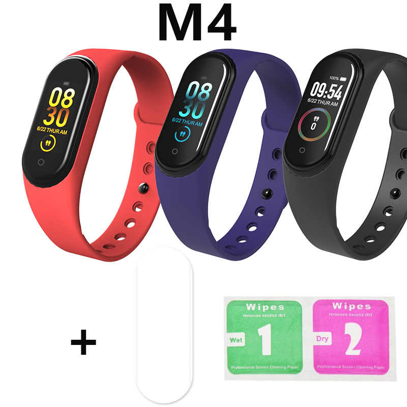 M4 Smartband Bracelet Watch Monitor Fitness Tracker Activity Film Screen Protector Heart Rate Blood Pressure Android Ios