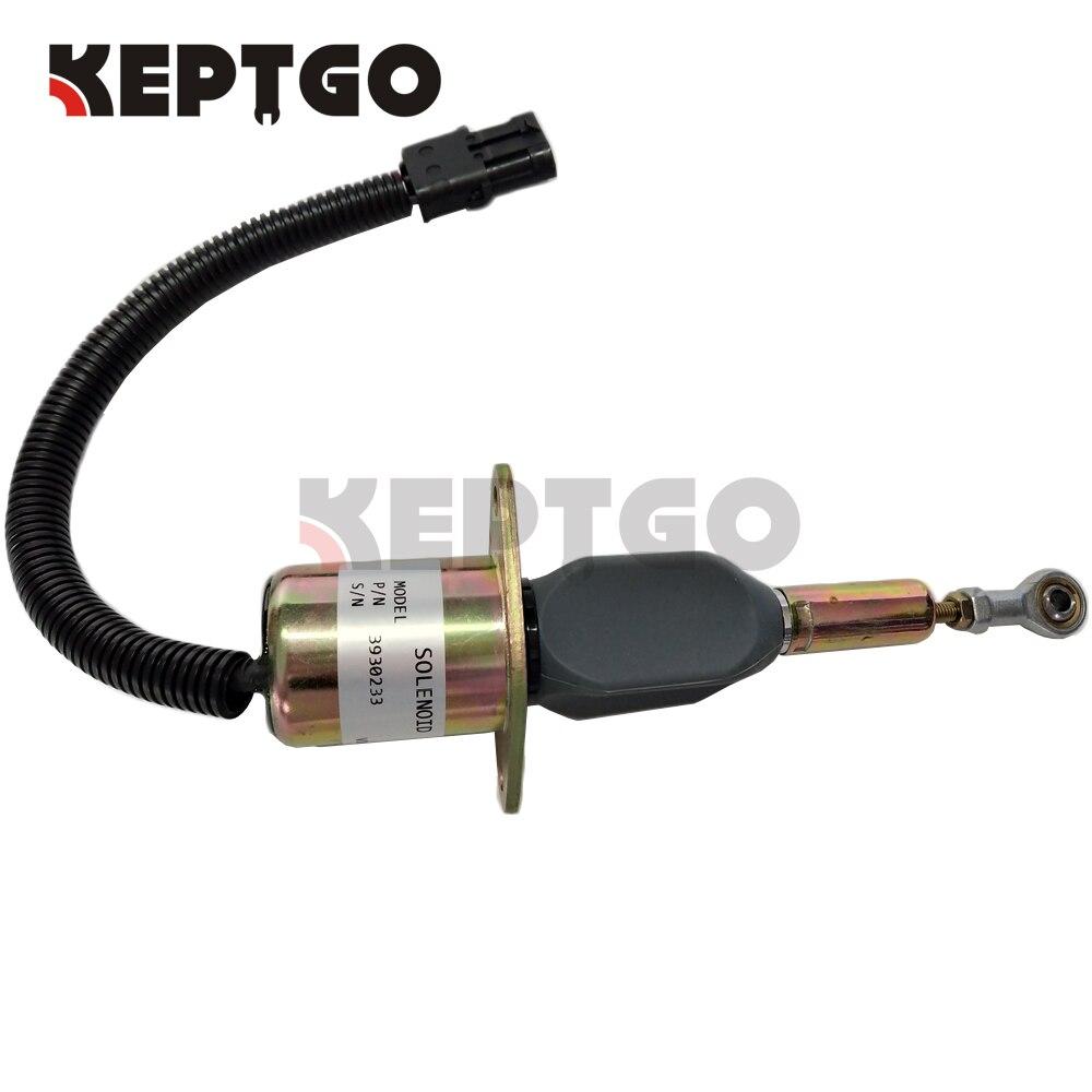 12V SA-4335-12 3930233 3923680 Fuel Stop Solenoid For Cummins 6BT 5.9L 6CT 8.3L