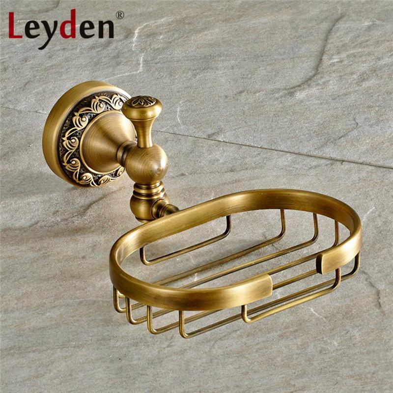 Leyden Antique Brass Orb Soap Dish Holder Soap Dish