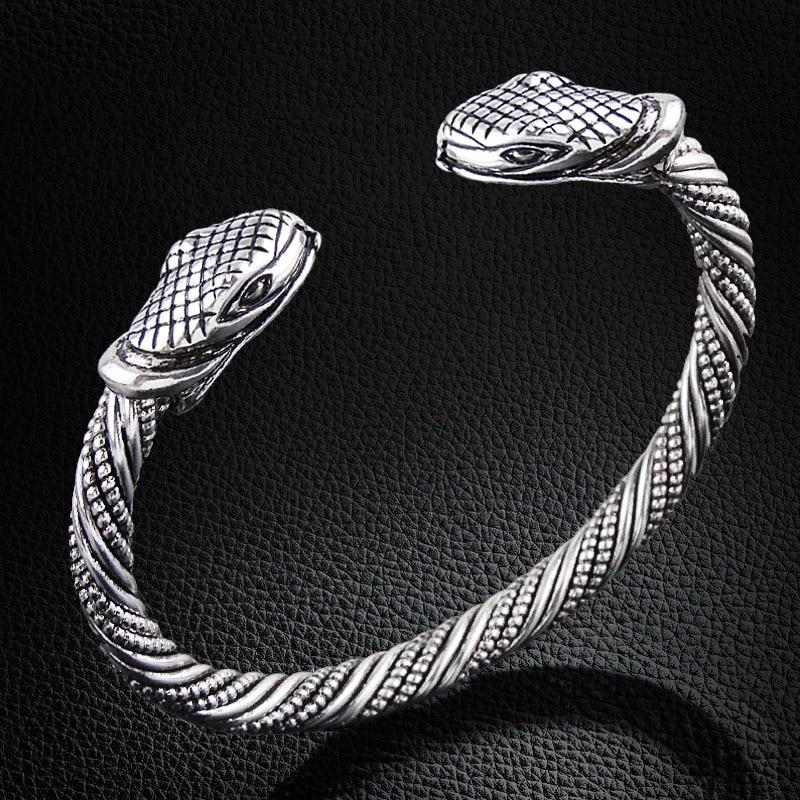 Bracelet Viking tête serpent  1