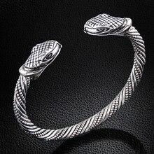 LAKONE, высокое качество, винтажный браслет и браслеты с головой змеи Викинга, ювелирные изделия для мужчин и женщин, браслет, манжета, подарочные браслеты