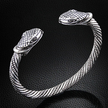 Bracelet Viking tête serpent  1