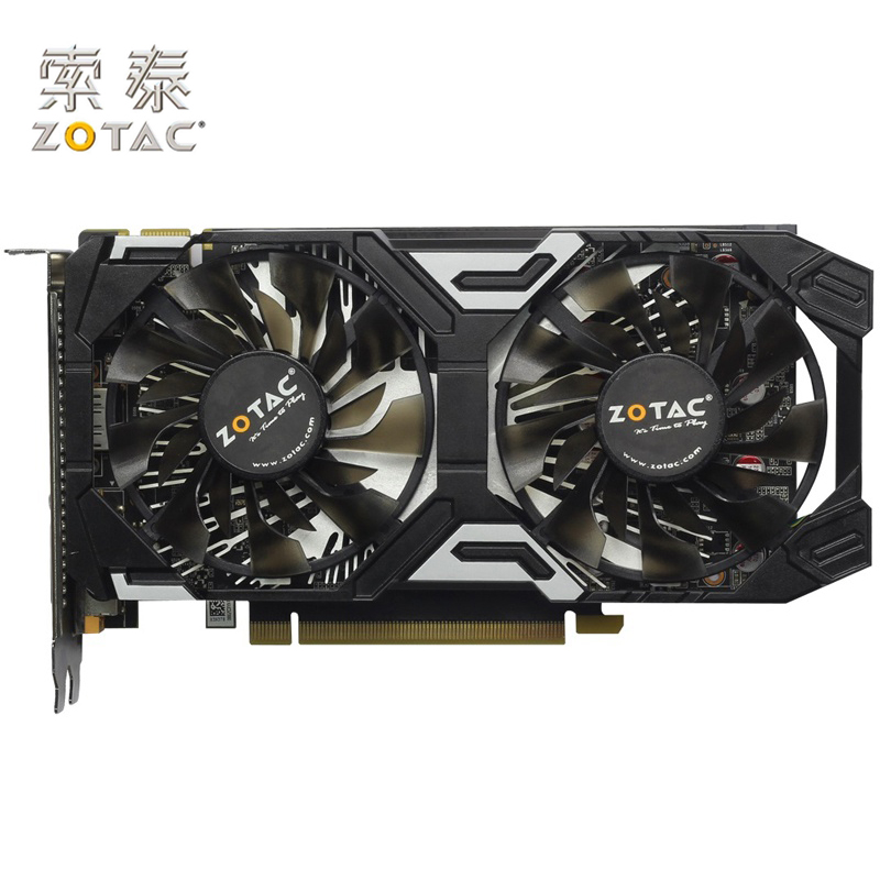 Carte graphique d'origine ZOTAC GeForce GTX 950-2GD5 Thunder TSI PA cartes graphiques GDDR5 pour carte nVIDIA GTX950 GTX 950 2 GB d'occasion