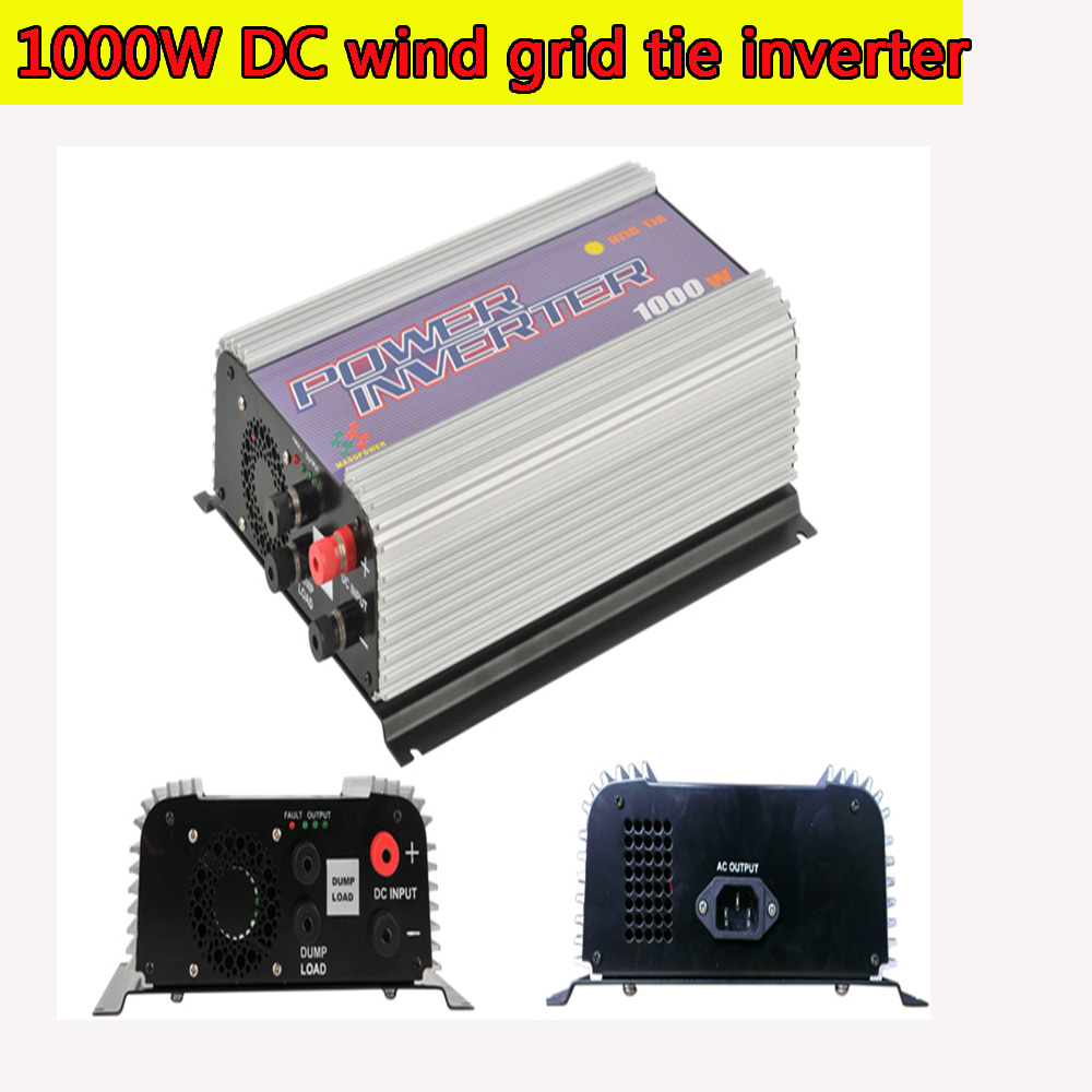 1000W MPPT Pure Sine Wave On Grid Tie Inverter for DC 22-60V/45-90V Wind turbine Wind Grid Tie Inverter with Dump Load NEW чайник unit uek 254 white
