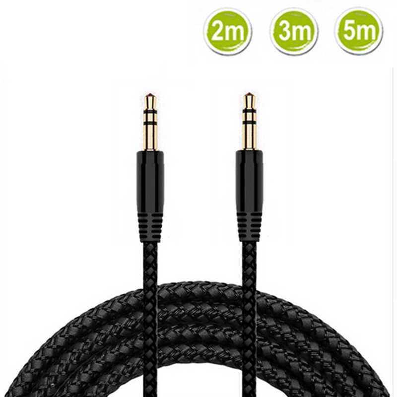 2m 3m 5 m 3,5mm Aux cable macho a 3,5mm Jack macho AUX Audio auriculares estéreo Cable de Audio de 3,5mm Aux Cable cable de auricular de teléfono