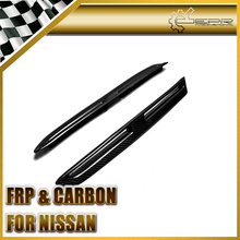 For Nissan R35 GTR 2PCS Carbon Fiber Front Fender Vents