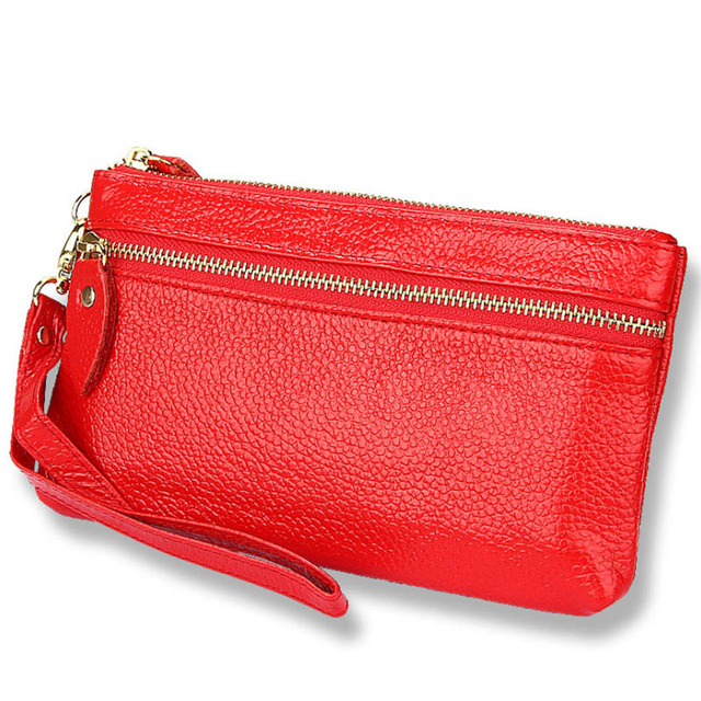Luxury Da Wristlet Donna Cuoio Borsa Portafoglio Genuino Delle Brand Donne Borse Portafogli qgCw85R
